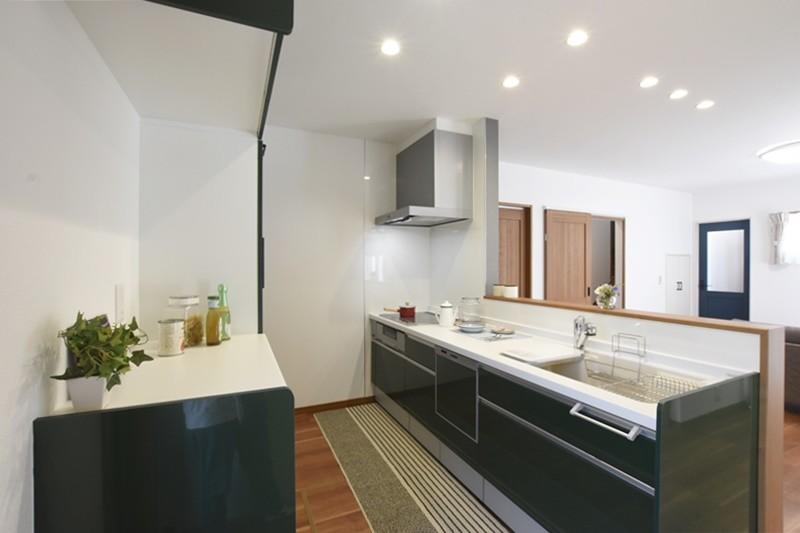 益城町宮園 新築一戸建て 1号地モデルハウス・キッチン