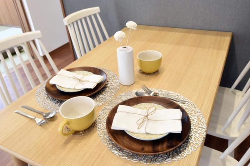 益城町宮園 新築一戸建て 1号地モデルハウス・食事を楽しむダイニング
