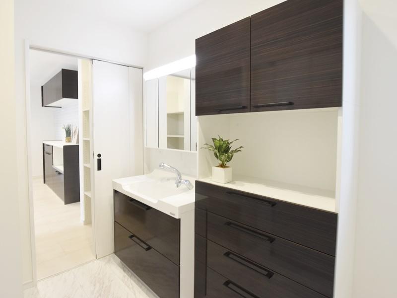 熊本市東区江津1丁目 新築一戸建て 2号地モデルハウス・洗面脱衣室
