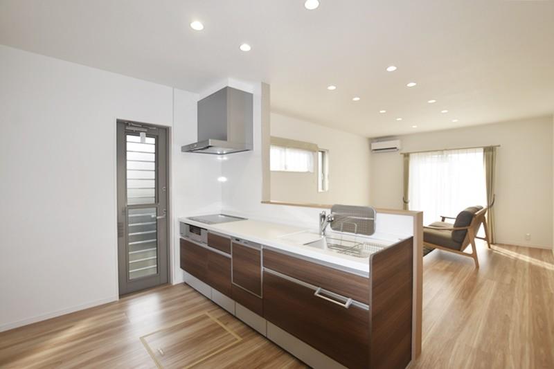 熊本市北区梶尾町 新築一戸建て 7号地モデルハウス・キッチン