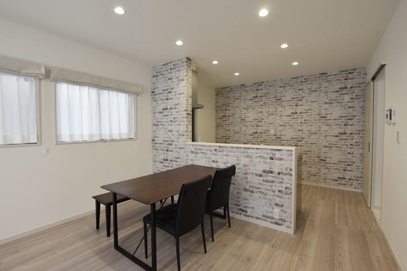 熊本市北区梶尾町 新築一戸建て 4号地モデルハウス・食事を楽しむダイニング