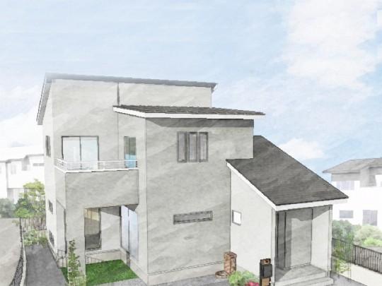 熊本市北区 新築一戸建て 9号地モデルハウスイメージパース