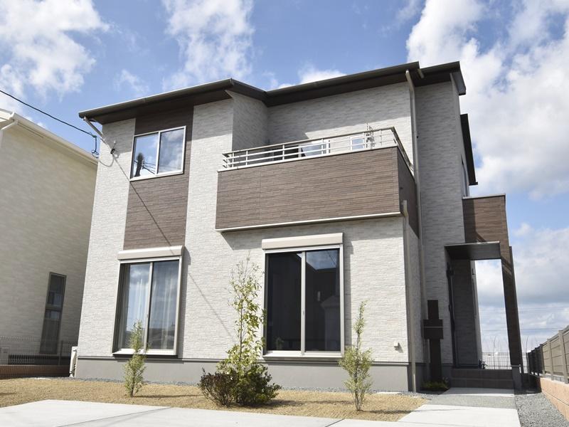 熊本市北区梶尾町 新築一戸建て 4号地モデルハウス外観