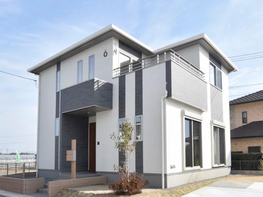 熊本市北区梶尾町 新築一戸建て 7号地モデルハウス外観