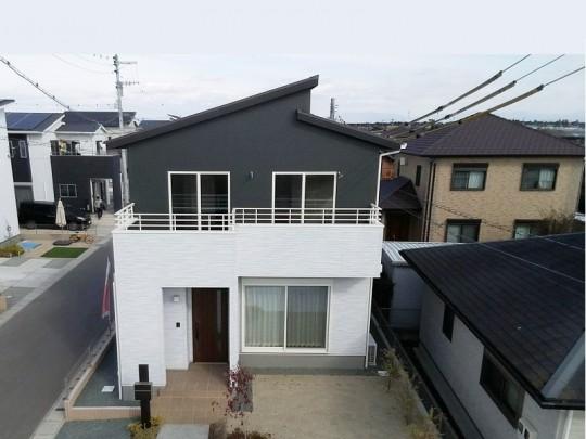 熊本市北区梶尾町 新築一戸建て 8号地モデルハウス外観