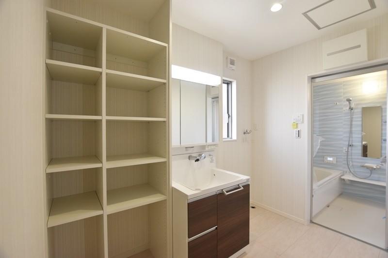 熊本市北区梶尾町 新築一戸建て 7号地モデルハウス・洗面脱衣室