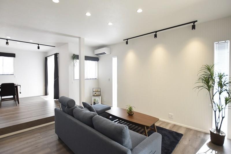 熊本市北区龍田8丁目 新築一戸建て 4号地モデルハウス・リビング