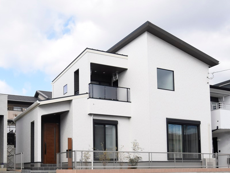 熊本市北区龍田8丁目 新築一戸建て 8号地モデルハウス外観