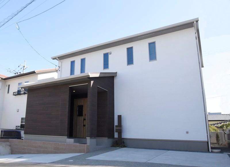 熊本市北区龍田8丁目 新築一戸建て 2号地モデルハウス外観