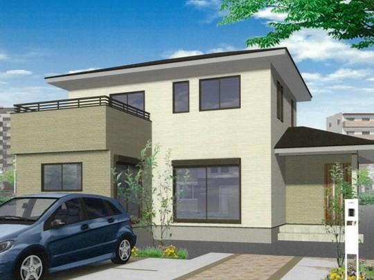熊本市南区八分字町 新築一戸建て 2号地モデルハウスイメージパース