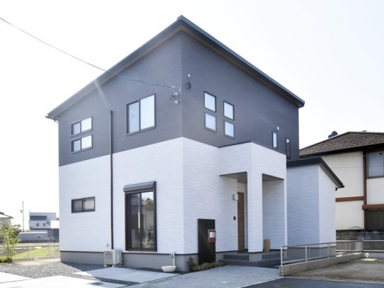 熊本市南区八分字町 新築一戸建て 3号地モデルハウス外観