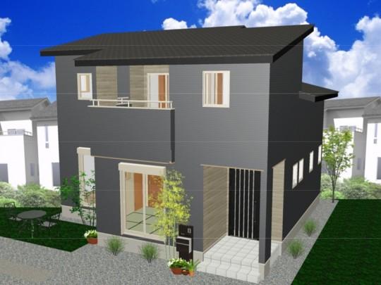 熊本市北区鶴羽田3丁目 新築一戸建て 5号地モデルハウスイメージパース