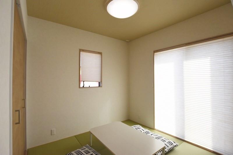 熊本市東区若葉5丁目 新築一戸建て 2号地モデルハウス・リビングと続き間の和室