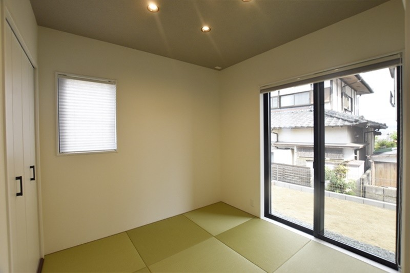 熊本市北区龍田5丁目 新築一戸建て 6号地モデルハウス・落ち着いた雰囲気のモダンな和室