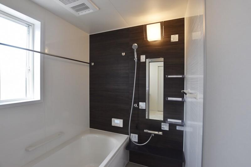 熊本市北区龍田5丁目 新築一戸建て 6号地モデルハウス・浴室換気乾燥機付きで室内干しにも便利な浴室