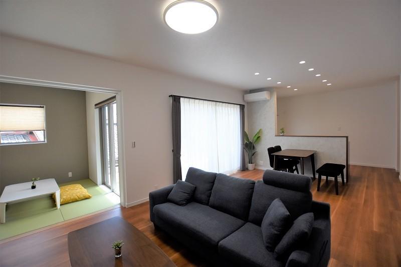 熊本市東区佐土原1丁目 新築一戸建て 3号地モデルハウス・和室と続き間のLDK
