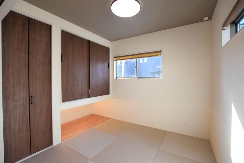 熊本市北区鶴羽田4丁目 新築一戸建て 2号地モデルハウス・落ち着いた雰囲気のモダンな和室