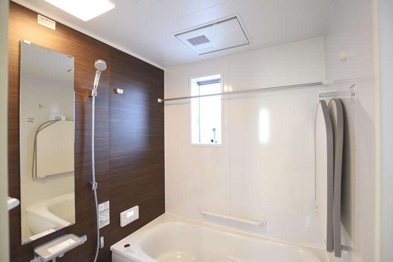 熊本市北区麻生田5丁目 新築一戸建て 3号地モデルハウス・浴室換気乾燥機付きの浴室