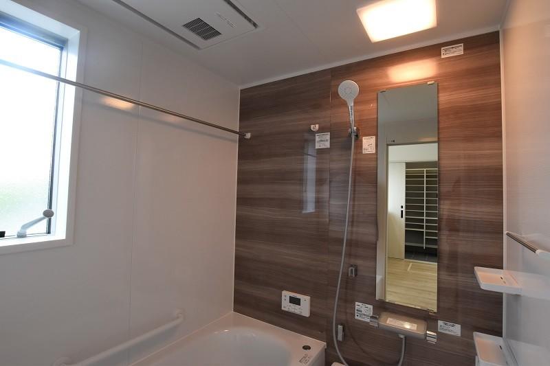 熊本市北区麻生田5丁目 新築一戸建て 2号地モデルハウス・浴室換気乾燥機付きの浴室