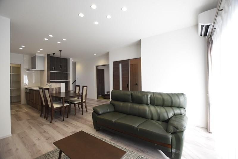 熊本市北区麻生田5丁目 新築一戸建て 3号地モデルハウス・家族が集まる明るいLDK