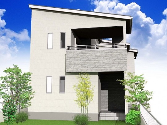 熊本市中央区迎町2丁目 新築一戸建て 外観イメージパース
