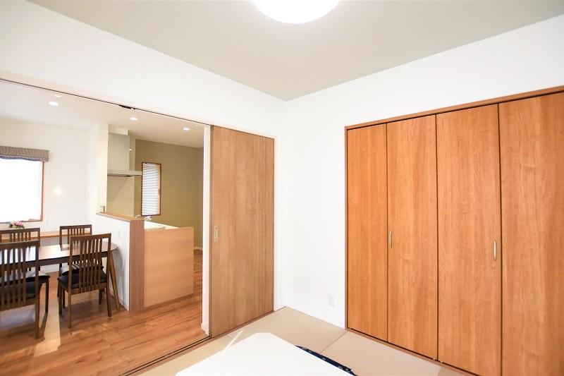 熊本市東区小山5丁目 新築一戸建て 4号地モデルハウス・LDKと続き間の和室