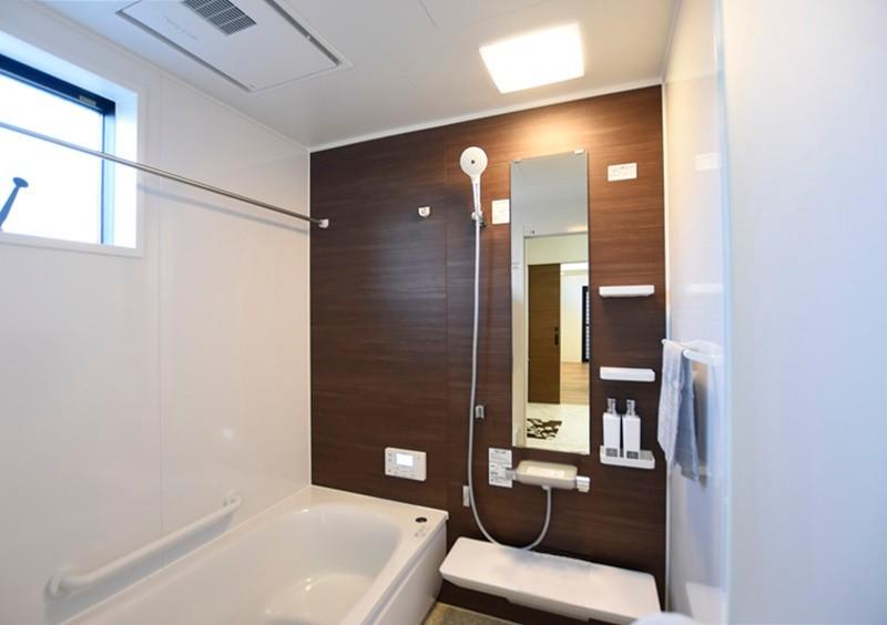 熊本市東区戸島3丁目 新築一戸建て 2号地モデルハウス・浴室換気乾燥機付きの浴室
