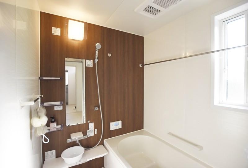 熊本市東区小山5丁目 新築一戸建て 4号地モデルハウス・浴室換気乾燥機付きの浴室