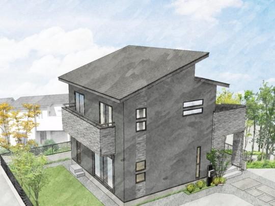 熊本市北区楡木3丁目 新築一戸建て 3号地モデルハウスイメージパース