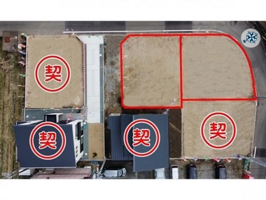 トレステージ楡木小学校前Ⅱ区割図※2021年1月末撮影