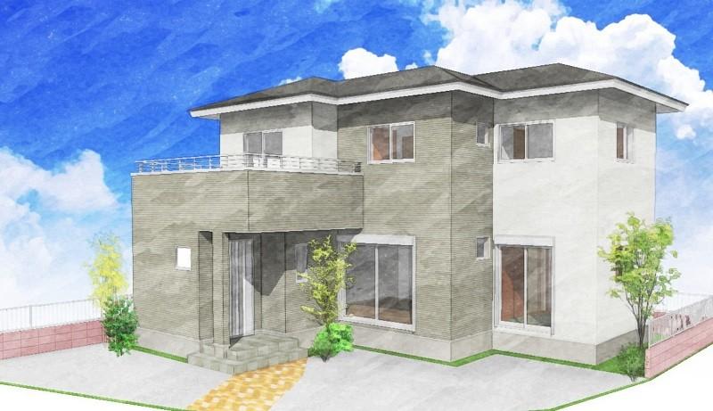 熊本市北区楡木3丁目 新築一戸建て 2号地モデルハウスイメージパース