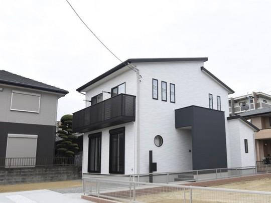 熊本市西区新土河原1丁目 新築一戸建て 3号地モデルハウス外観