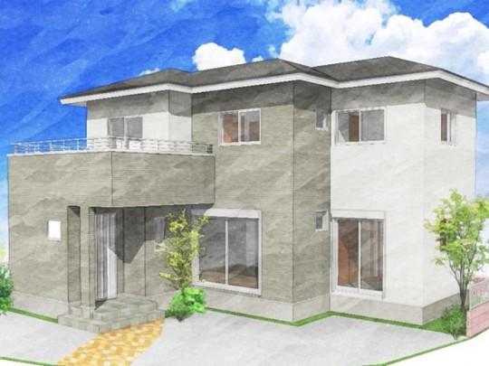 熊本市北区 新築一戸建て 2号地モデルハウスイメージパース