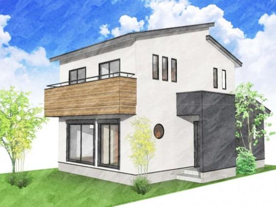 熊本市西区新土河原1丁目 新築一戸建て 3号地モデルハウスイメージパース