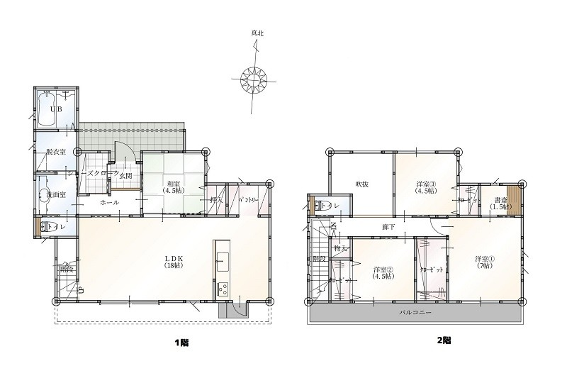 菊池郡大津町 新築一戸建て 7号地モデルハウス間取り図