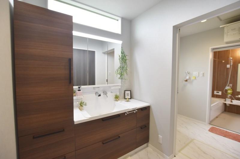 菊池郡大津町 新築一戸建て 7号地モデルハウス洗面室