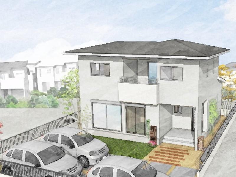 熊本市南区富合町志々水 新築一戸建て 4号地モデルハウスイメージパース