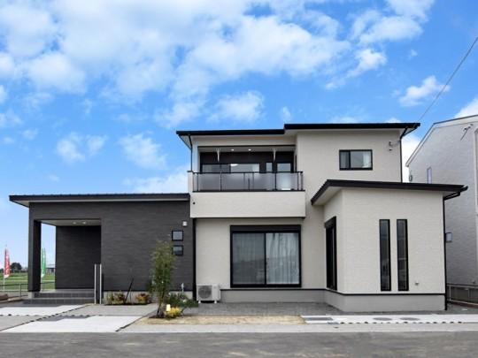 熊本市南区富合町志々水 新築一戸建て 5号地モデルハウス外観