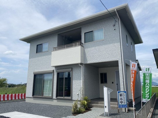 熊本市南区富合町志々水 新築一戸建て 4号地モデルハウス 外観