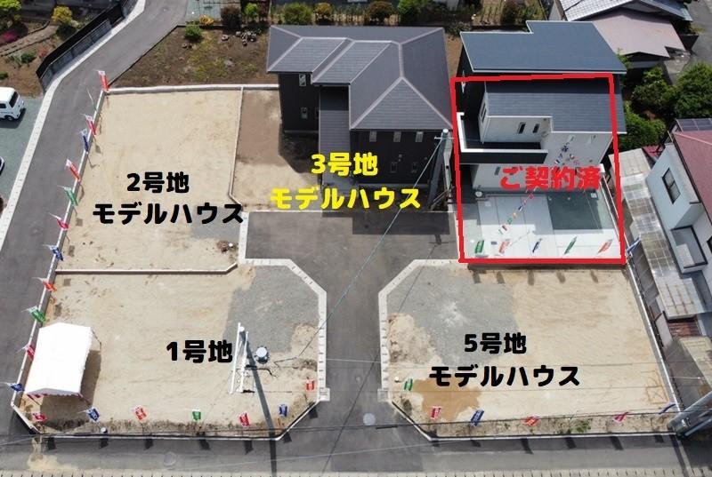 熊本市東区長嶺東5丁目 新築一戸建て 4号地モデルハウス・分譲地の様子