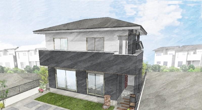 合志市合生 新築一戸建て 9号地モデルハウスイメージパース
