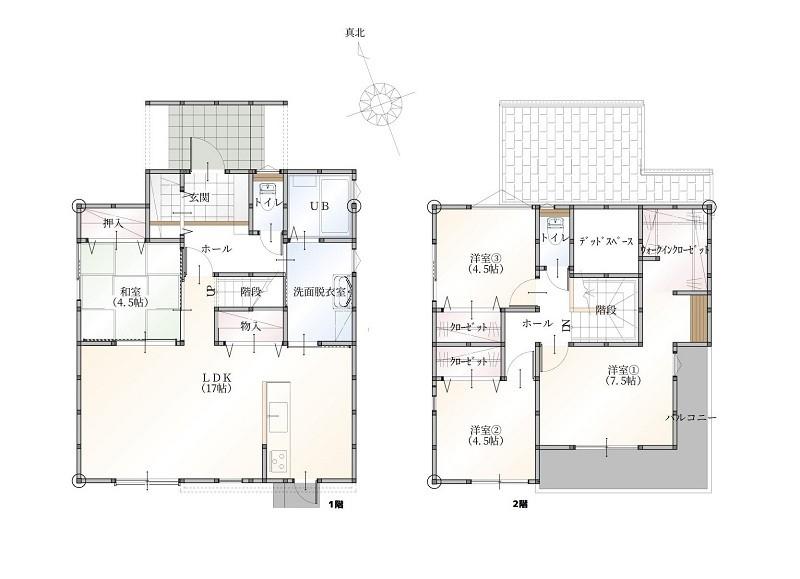 合志市合生 新築一戸建て 1号地モデルハウス間取り図