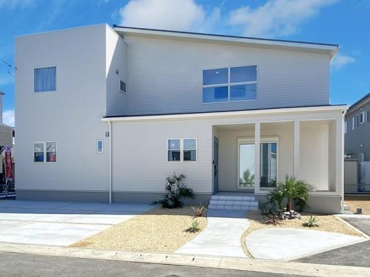 熊本市西区中島町 新築一戸建て 3号地モデルハウス 外観