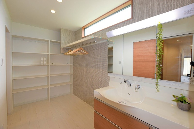 熊本市北区 新築一戸建て 4号地モデルハウス・洗面室