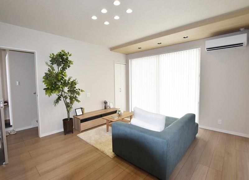 熊本市北区龍田7丁目 新築一戸建て 3号地モデルハウス リビング