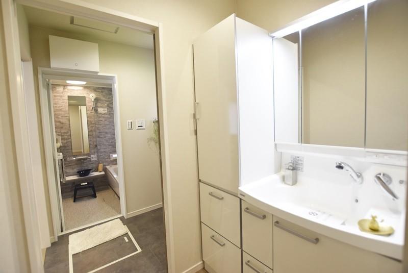 熊本市北区龍田7丁目 新築一戸建て 3号地モデルハウス 洗面化粧台