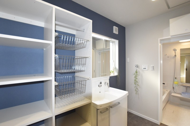 熊本市北区龍田7丁目 新築一戸建て 5号地モデルハウス 洗面脱衣室