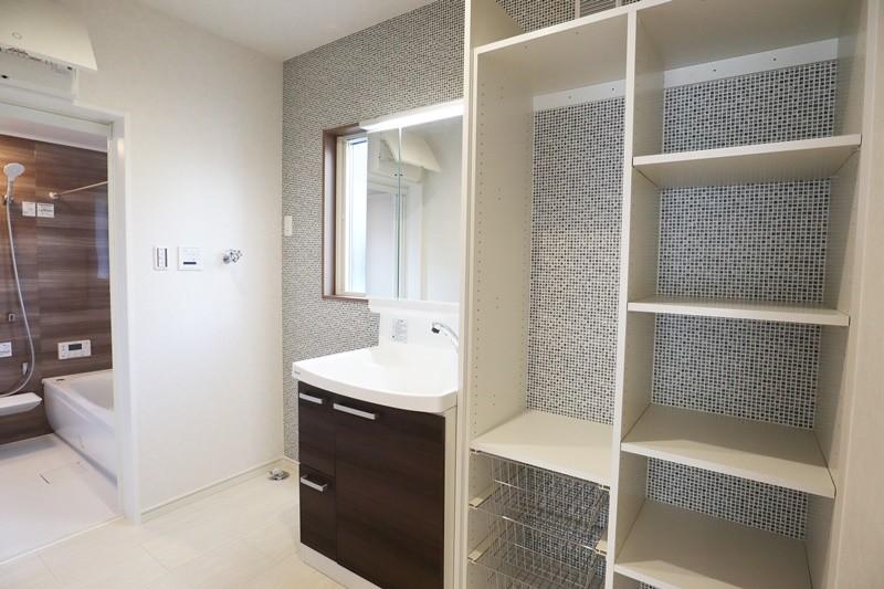 熊本市北区龍田7丁目 新築一戸建て 6号地モデルハウス 洗面脱衣室