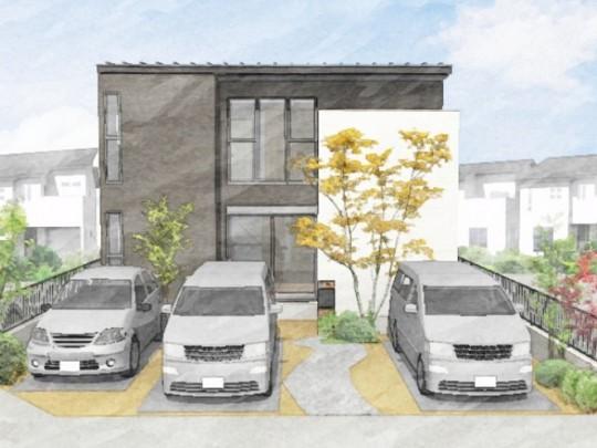 熊本市北区龍田7丁目 新築一戸建て 6号地モデルハウス 外観