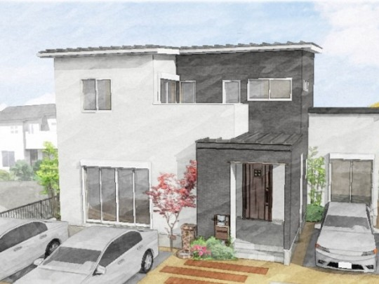 熊本市東区若葉5丁目 新築一戸建て 2号地モデルハウス・パース